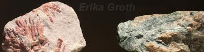 Samma mineral kan ofta se ut på flera olika sätt, vilket gör att jag tycker de är svåra att lära sig identifiera. Här är två olika turmaliner.