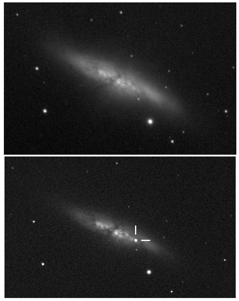 Supernovan i M 82 Foto: UCL/University of London Observatory/Steve Fossey/Ben Cooke/Guy Pollack/Matthew Wilde/Thomas Wright