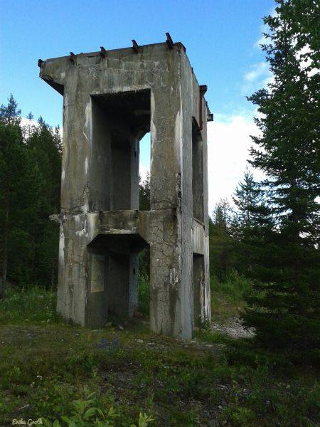 Verksbyggnaden vid Lavergruvan.